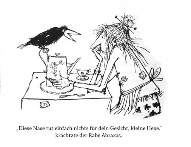 Die kleine Hexe braucht dringend eine neue Nase. Foto: Andrea Litzenburger